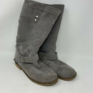 Eric Michael womens slouch boots gray size 39 Reta